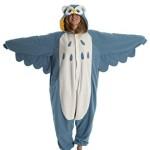 9Fox Jumpsuit Tier Karton Fasching Halloween Kost¨¹m Sleepsuit Cosplay Fleece-Overall Pyjama Schlafanzug Erwachsene Unisex Lounge Nachtw?sche