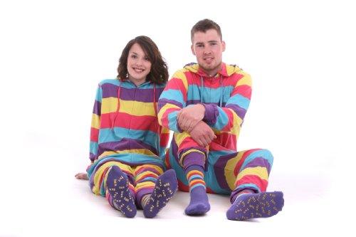 einteiliger Baumwollschlafanzug, Ganzkörperpyjama, Erwachsenenstrampler FESTIVAL FUNZEE (XXL)