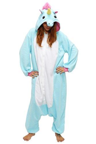 Einhorn Kostüm - Schlafoverall - (Blaues Einhorn)